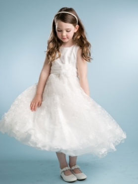 Gorgeous Solid Lace Dress with Sewn Ribbon