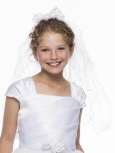 Pretty Communion Veil With Comb