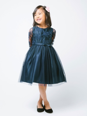 Sweet 3-4 Lace Sleeve Dress